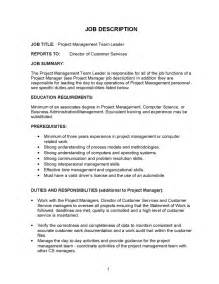 management duties on resume 12 project manager description recentresumes