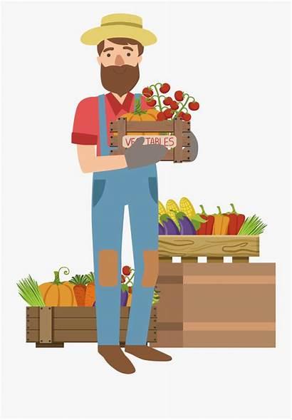 Clipart Farming Farmer Cartoon Vector Farm Vegetable