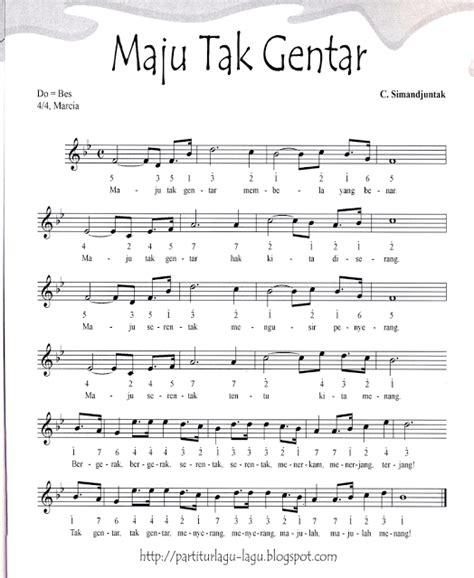 maju tak gentar not angka not angka lagu maju tak gentar not angka lagu