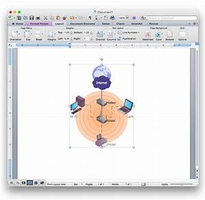 Add A Wireless Network Diagram To A Ms Word Document