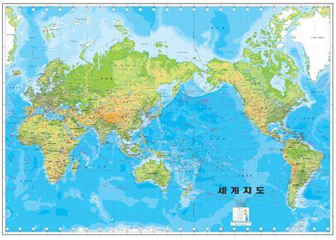 korean pacific centric map   world mapmania