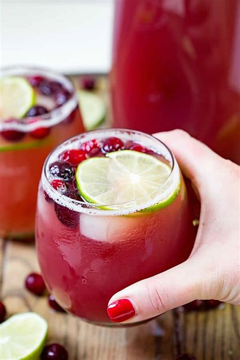 cranberry pineapple punch with video easy cocktail real housemoms