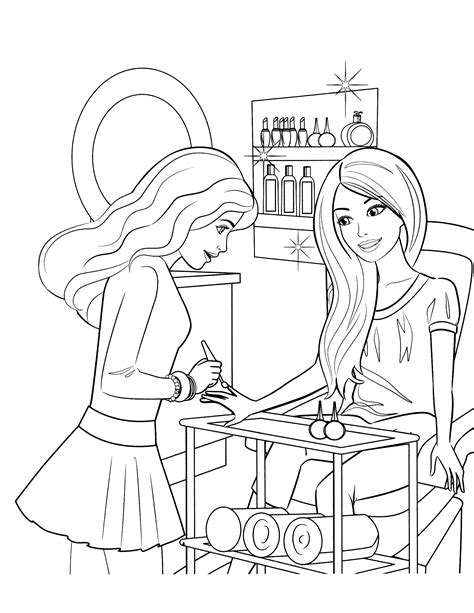 barbie  friends coloring pages getcoloringpagescom