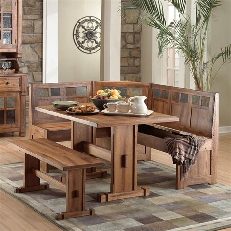 kitchen nook set designs sedona 4 breakfast nook set dining