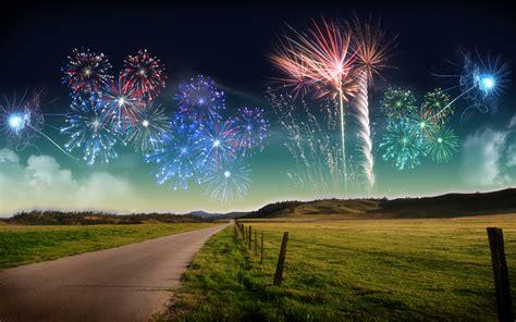 Nature New Year Landscape Fireworks Ultrahd 4k Wallpaper