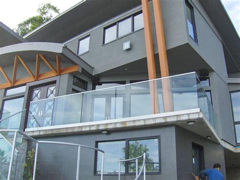 glass railings contemporary exterior vancouver
