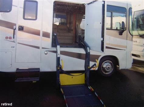 class a with electric wheelchair lift class a motorhome