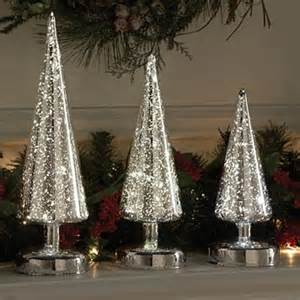 mercury glass decorated christmas trees designcorner