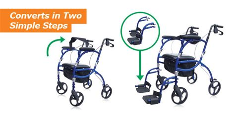 hugo navigator rolling walker transport chair hugo mobility