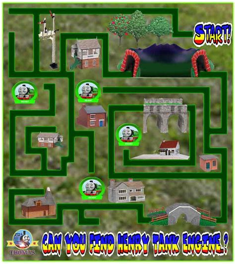 july 2010 the tank engine friends free 989 | Thomas and friends free online game maze preschool kindergarten learning fun Henry the green engine
