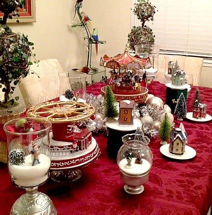 christmas decorating  inexpensive vases cake stands