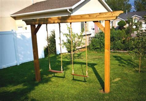 Swing Como Diy Swing Set 5 Ways To Make Your Own Bob Vila