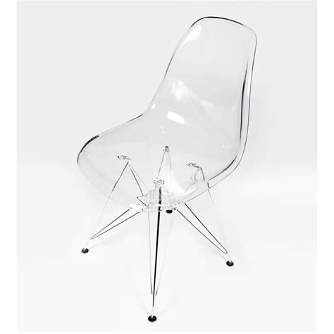 eames style dsr clear acrylic plastic dining shell chair