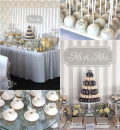 silver wedding silver and white creates the modern wedding theme