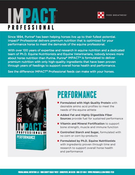 impact professional performance sell sheet page  ark