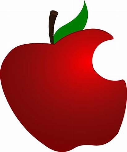 Apple Clip Vector Bit Clipart Drawing Clker