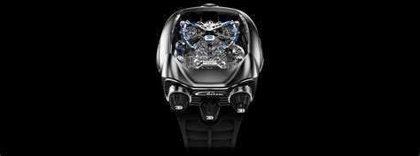 Signed an agreement to create timepieces that honor both the power and performance of both brands. Bugatti Chiron Tourbillon Titanium | Jacob & Co