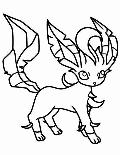 Pokemon Coloring Pages Water Type Eevee Printable