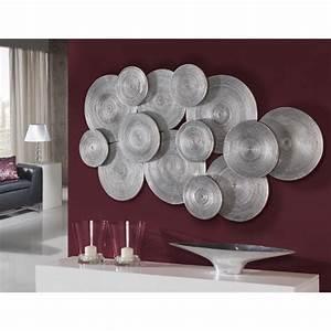 Decoration Murale Design : d coration design murale disques argent s ~ Teatrodelosmanantiales.com Idées de Décoration