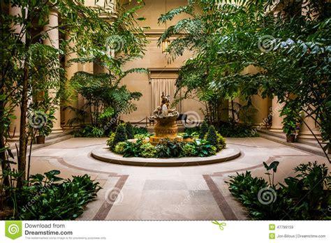 Indoor Garden Area In The National Gallery Of Art In
