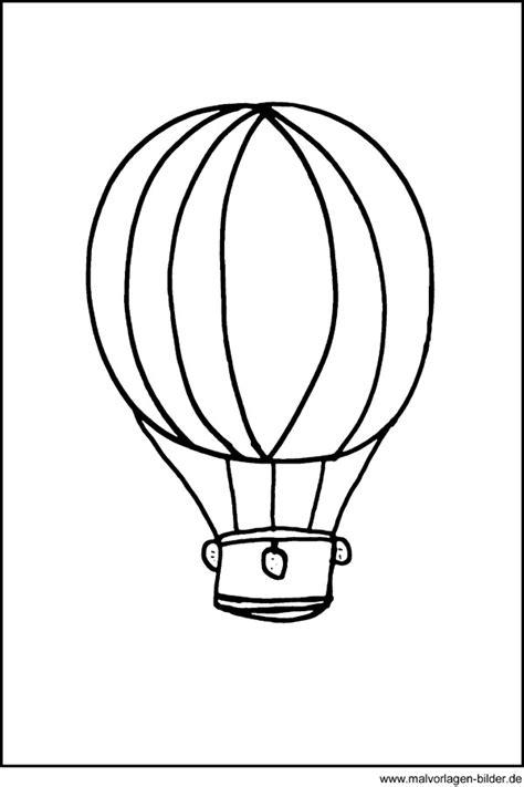 window color bild von einem heissluftballon ausmalbilder