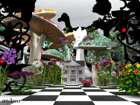 mydeco com launches alice in wonderland inspired interior designs in 3d by mydeco