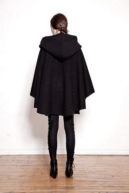 ovate black hooded wool cloak coats pinterest wool