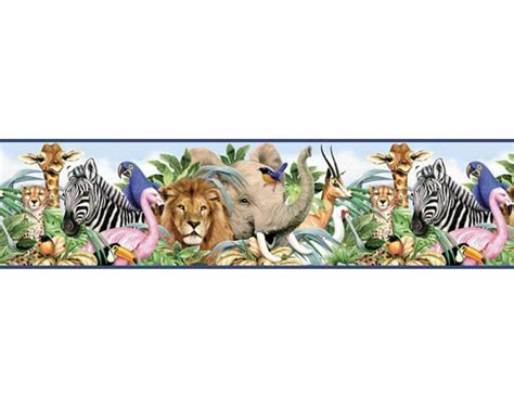 Animal Border Wallpaper - jungle wallpaper border cake ideas and designs