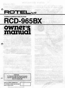 Rcd-965bx Manuals