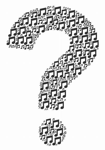 Question Mark Bingo Notes Collage Icons Golf