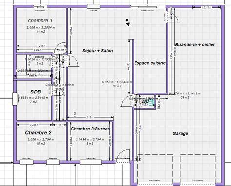 plan maison plain pied 3 chambres gratuit plan maison plain pied 100m2 votre avis 87 messages