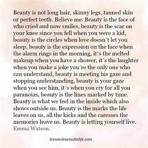 Lessons Learned... Emma Watson Beauty Quotes