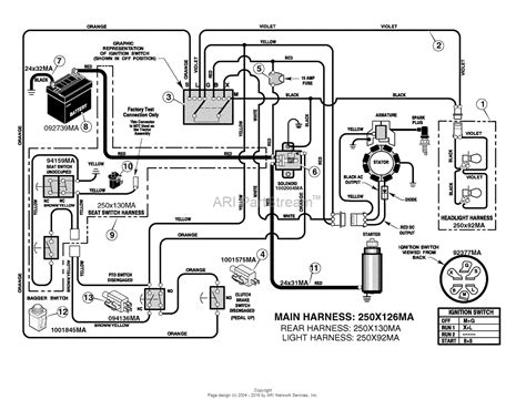 murray xb lawn tractor  parts diagram