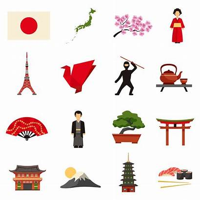 Culture Japanese Japan Icons Flat Vector Lantern
