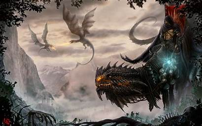 Dragon Fantasy Skull Dragons Castle Wallpapers Mythical