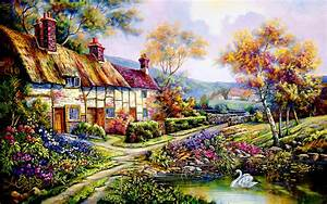 1920x1200 Countryside Cottage desktop PC and Mac wallpaper