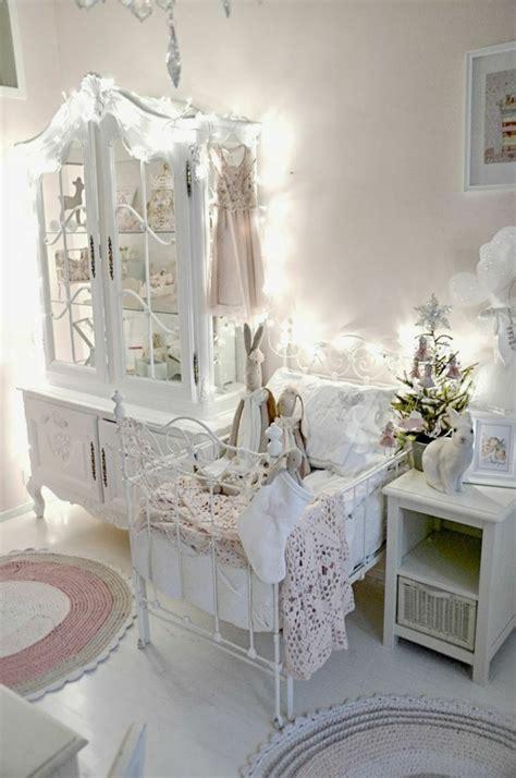 rideaux chambre bebe fille la décoration shabby chic mixer le passé et le présent