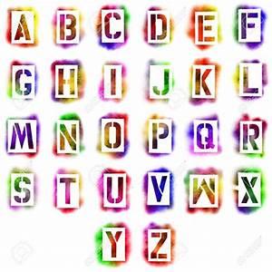 Alphabet stencils free premium templates for Spray paint letter templates