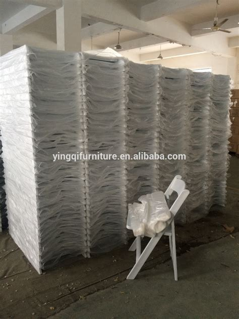 wholesale white folding resin chair for wedding used for