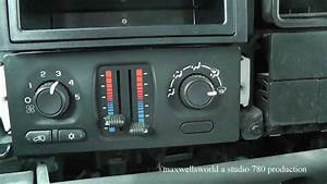 Changing Of A Heater Control Switch 2003 To 2006 Silverado
