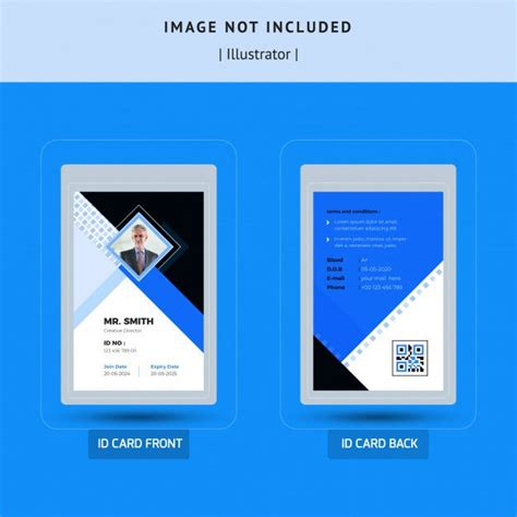 simple id card template design  images id card