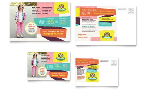 kids consignment shop postcard template word publisher