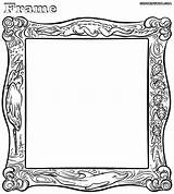 Frame Coloring Pages Wooden Clipart Colorings Designs Library Clip sketch template