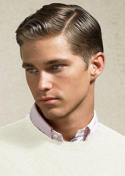 classy retro slick parted haircut  men hairstyle  men pinterest  hair men