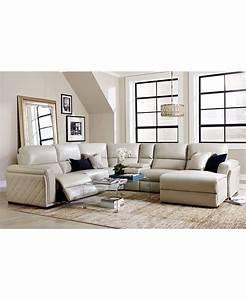 Macys furniture sectional clarke fabric 2 piece for Macy s reclining sectional sofa