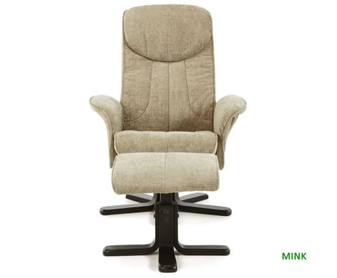 Olsen Fabric Massage Recliner Chair And Stool