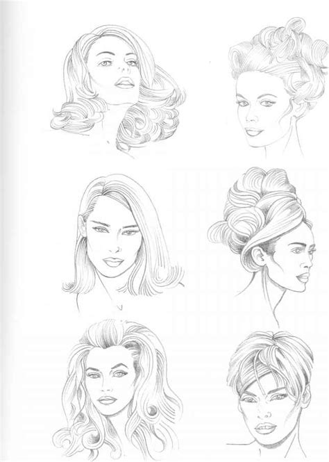 types  hairstyle figure drawing martel fashion