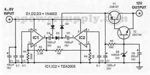 Tda2003 6v To 12v Voltage Converter