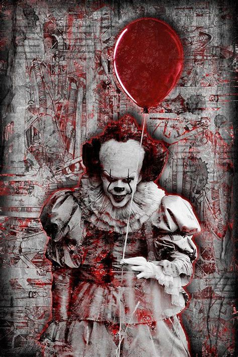 pennywise print pennywise artwork pennywise tribute art