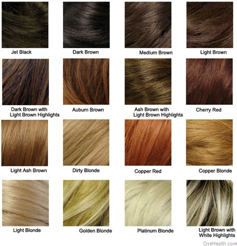 Different Types Hair Colors types of hair colour rooms
